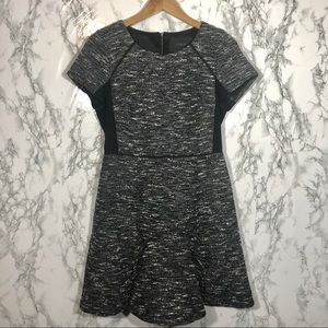 J.Crew Mixed Tweed Dress Charcoal B0562